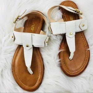 Joe Boxer White Sandals Size 8